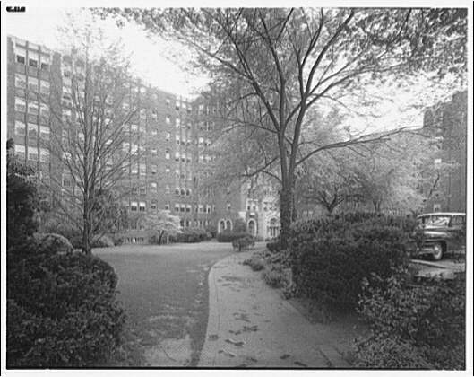 Westchester Apartments. Grounds of Westchester Apartments before new landscaping VIII
