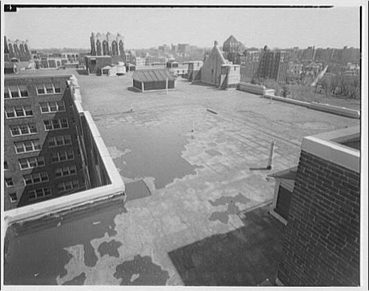 Westchester Apartments. Roof of Westchester Apartments, looking north
