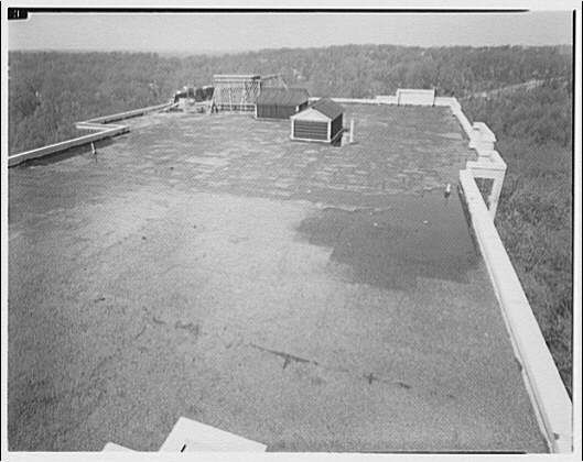 Westchester Apartments. Roof of Westchester Apartments, looking west