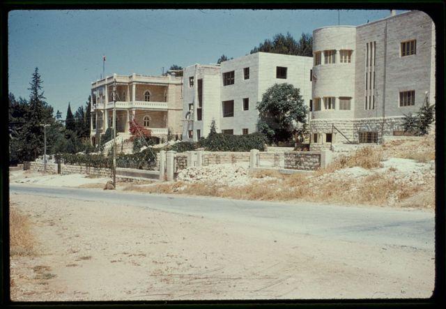 Buildings in Jerusalem. Arab homes on Mt. of Olives Road (Arab Jerusalem)