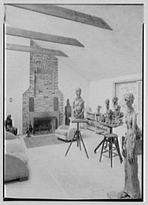 Harry I. Caesar, residence in Purdy, New York. Studio