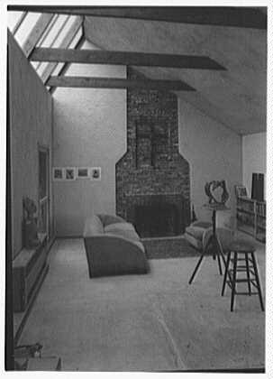 Harry T. Caesar, residence in Purdy, New York. Studio