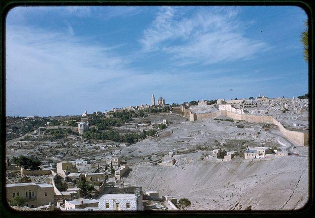 Jerusalem from Olivet, panorama, I