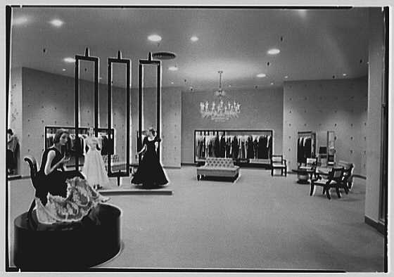Lord & Taylor, business in Westchester. Evening dresses department