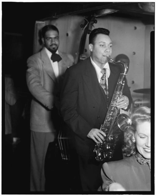 [Portrait of Lucky Thompson, Hilda A. Taylor, and Al McKibbon, Three Deuces, New York, N.Y., ca. July 1948]