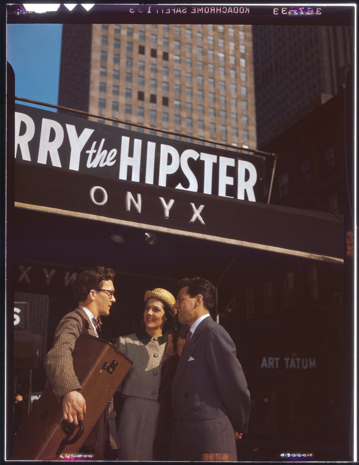 [Portrait of Toots Thielemans, Adele Girard, and Joe Marsala, Onyx, New York, N.Y., ca. 1948]