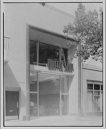 Potomac Electric Power Co. commercial kitchens, restaurants and lighting. Exterior of Waffle Shop at 619 Pennsylvania Ave., N.W.