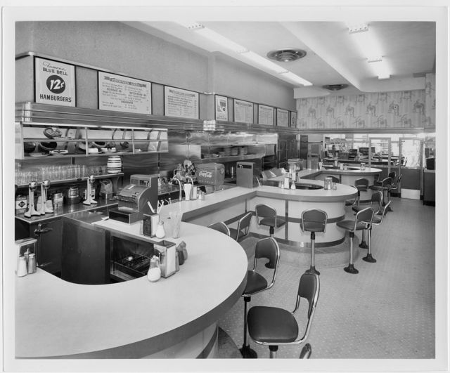 Potomac Electric Power Co. commercial kitchens, restaurants and lighting. Interior of Waffle Shop at 619 Pennsylvania Ave., N.W. II