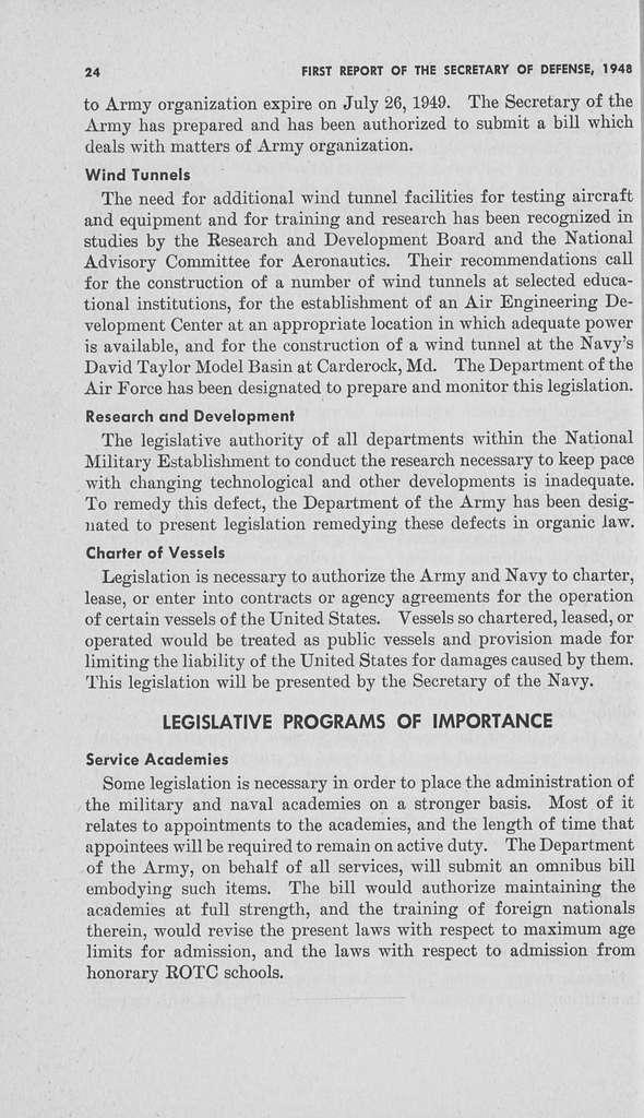 Report of the Secretary of Defense
