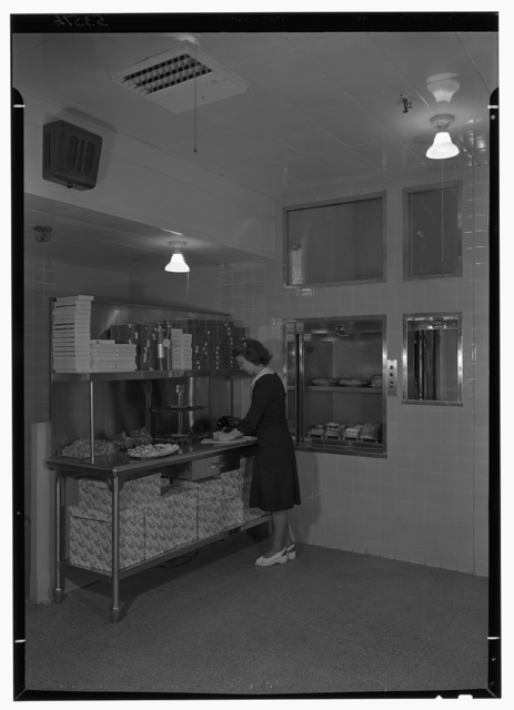 Schrafft's, Esso Building, Rockefeller Center, New York. Dumbwaiter