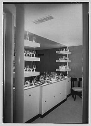 Steuben Glass, business at 718 5th Ave., New York City. Showroom II