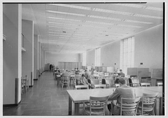 Lamont Library, Harvard University, Cambridge, Massachusetts. Third level reading room I