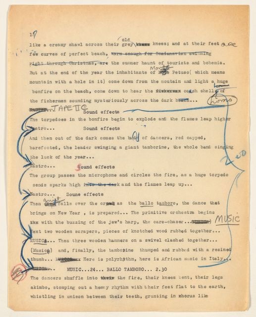 Alan Lomax Collection, Manuscripts, BBC, 1950s
