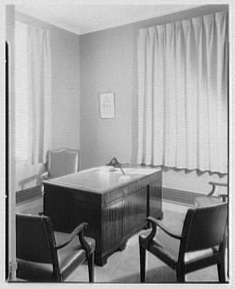 County Trust Company, South Broadway, Yonkers, New York. Private office