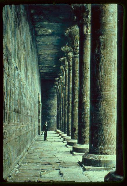 Egypt. Edfu. Colonnade of Temple of Horus
