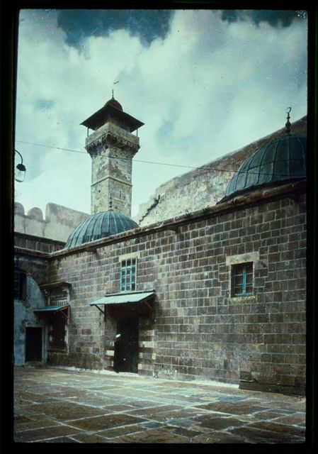 Hebron and surroundings. Machpelah. Tombs of Jacob & Leah. Domes over cenotaphs