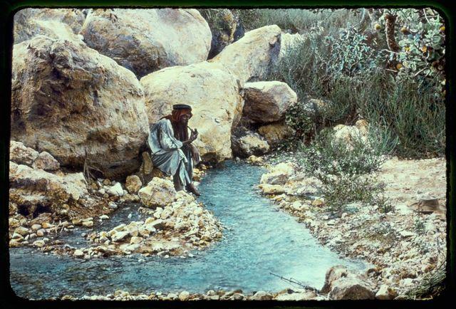 Jericho and Dead Sea area and River Jordan. Engedi. The upper spring, I Sam 23:29