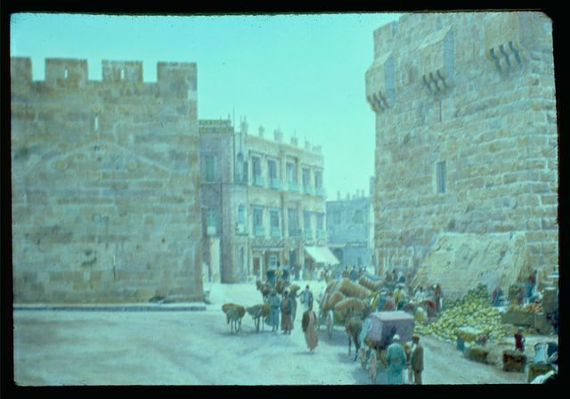 Jerusalem. Breach in city wall, Jaffa Gate