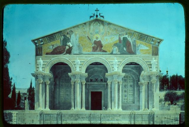 Jerusalem. Church of Agony (Church of All Nations). Façade