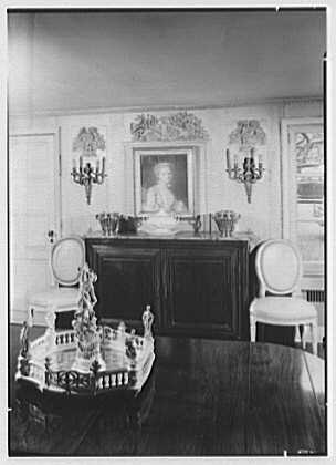 Mrs. Charles Henry Fallasse, Andely, residence in Cross River, New York. Dining room sideboard