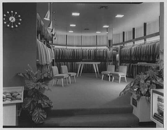 The Manhattan, business in Cumberland, Maryland. Clothing department, from center