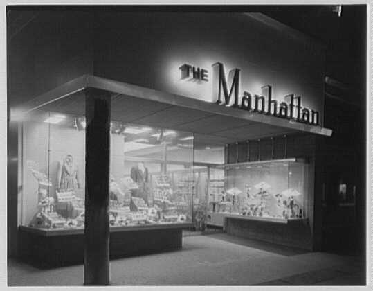 The Manhattan, business in Cumberland, Maryland. Entrance exterior