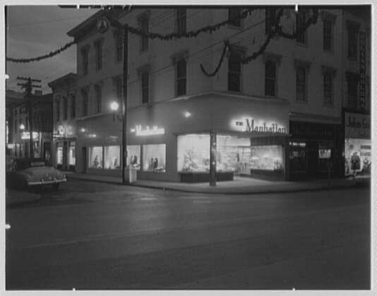 The Manhattan, business in Cumberland, Maryland. Exterior