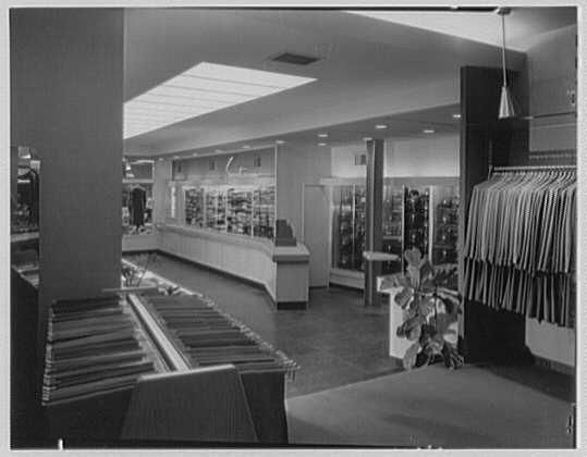 The Manhattan, business in Cumberland, Maryland. From clothing department to entrance