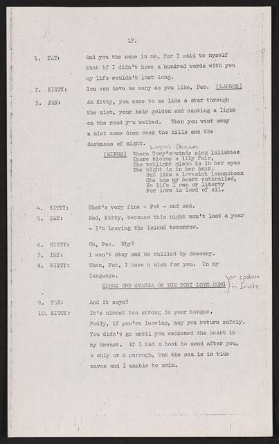 Alan Lomax Collection, Manuscripts, BBC, 1951