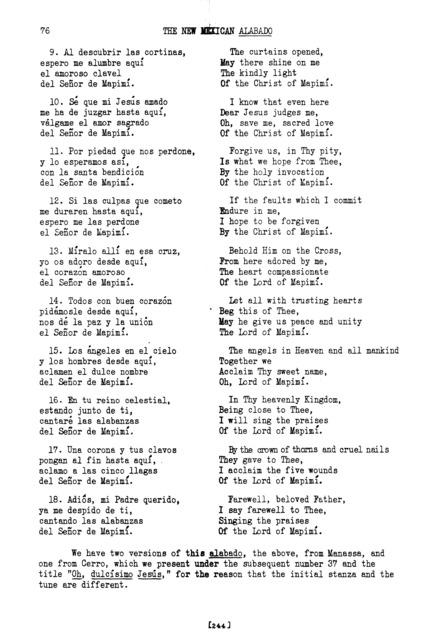 Dulcísimo Jesús mío (My Sweetest Jesus) [textual transcription]