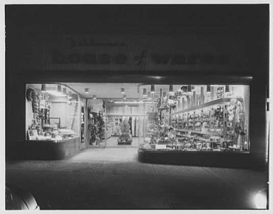 House of Wares, business at 884 Madison Ave., New York City. Night view I