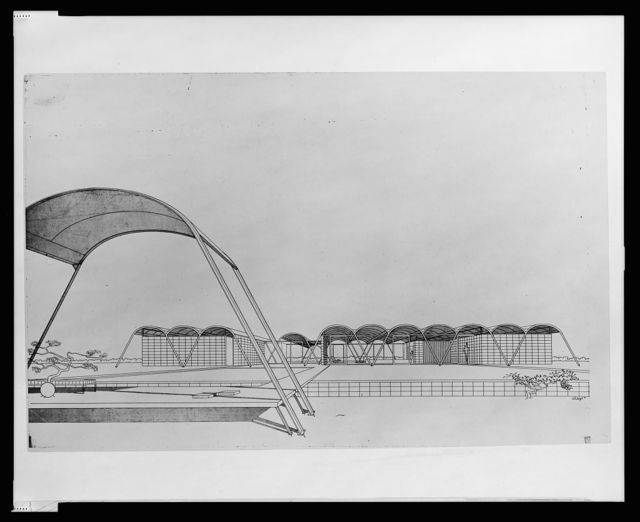 [Knott residence, Yankeetown, Florida (project). Perspective. Rendering] / Rudolph '51.