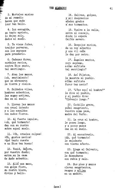 Madre de Dolores (Mother of Sorrows) [textual transcription]