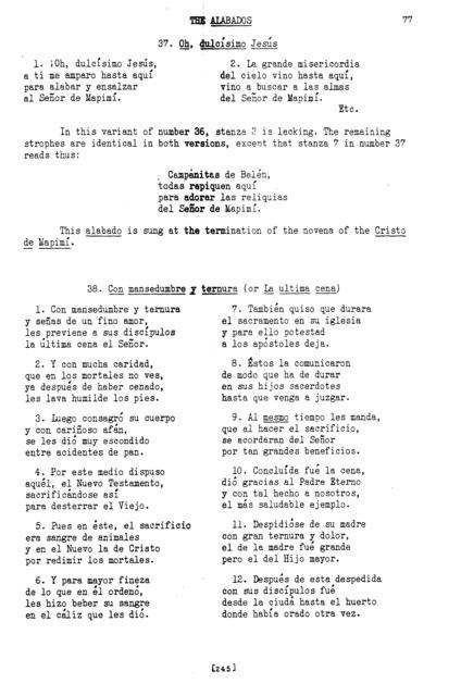 Oh, dulcísimo Jesús (Oh, Sweetest Jesus) [textual transcription]