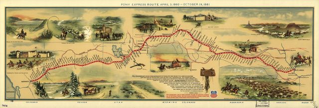 Pony express route April 3, 1860 - October 24, 1861 /
