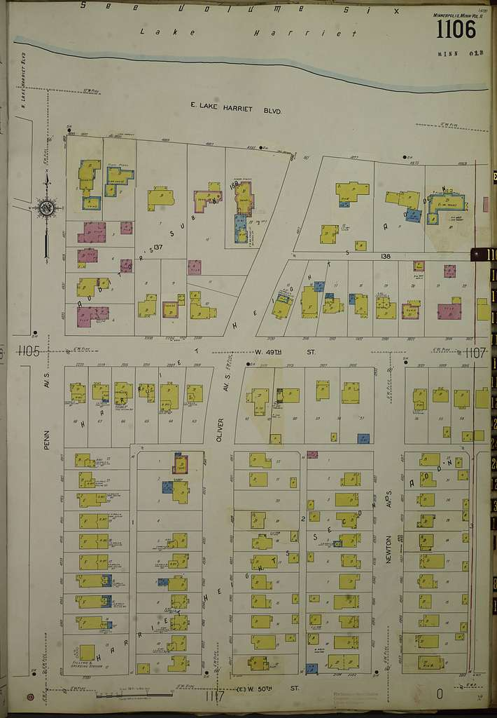 Sanborn Fire Insurance Map from Minneapolis, Hennepin County, Minnesota