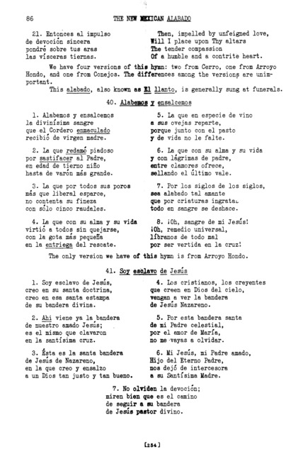 Soy esclavo de Jesús (I am a Slave of Jesus) [textual transcription]