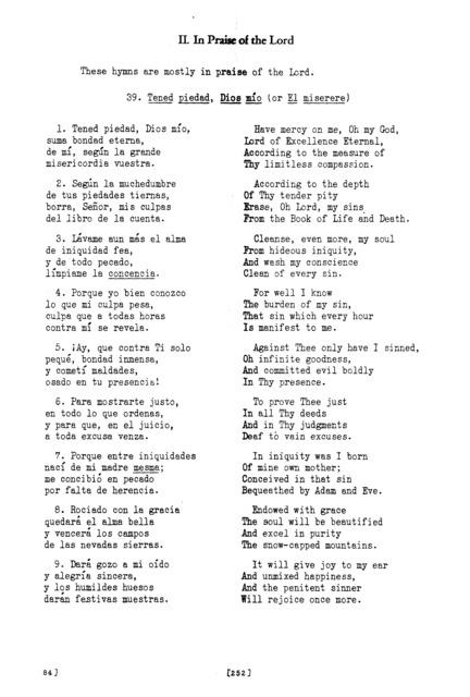 Tened piedad, Dios mío (Have Pity, My God) [textual transcription]
