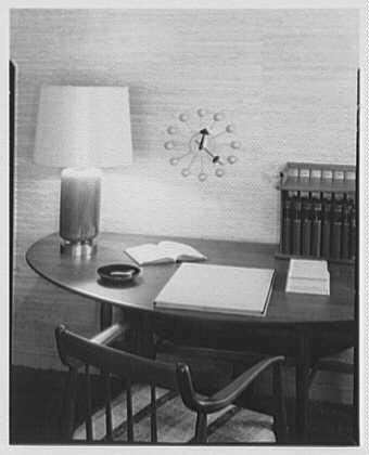 Auerbach Associates, 130 W. 57th St., New York. Clock setup at Bloomingdales