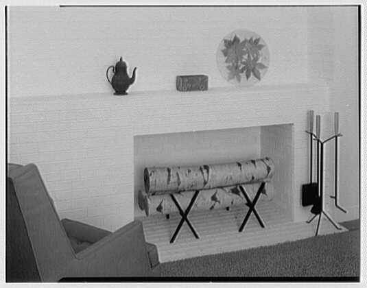 Auerbach Associates, 130 W. 57th St., New York. Fireplace setup at Bloomingdales