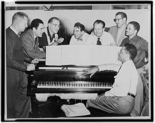 Benny Goodman at rehearsal with his new group / World Telegram & Sun photo by Fred Palumbo.