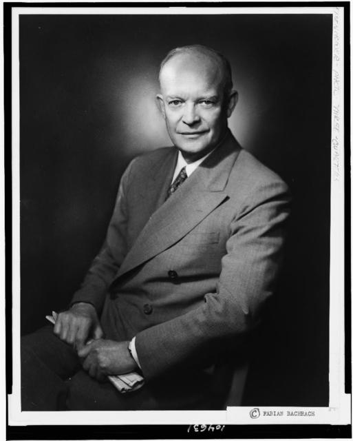 [Dwight D. Eisenhower, three-quarter length portrait, seated, facing front] / Fabian Bachrach.