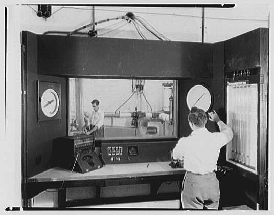 Fairchild Aircraft Corporation, Bayshore, Long Island, New York. Testing cell