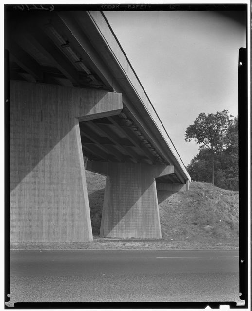 New Jersey Turnpike. Cantilever bridge detail I