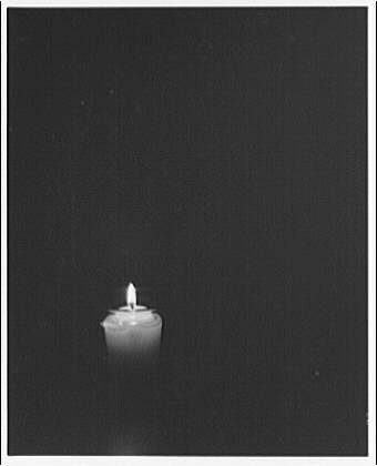 Trinity College. Lit candle, Trinity College