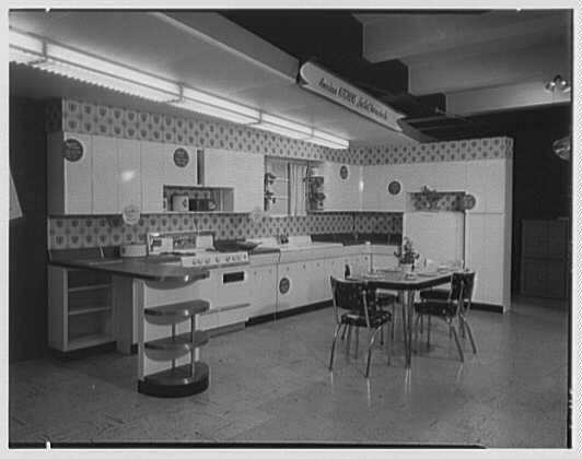 Ludwig Baumann-Spears, business at 35th St. and 8th Ave. Kitchen setup