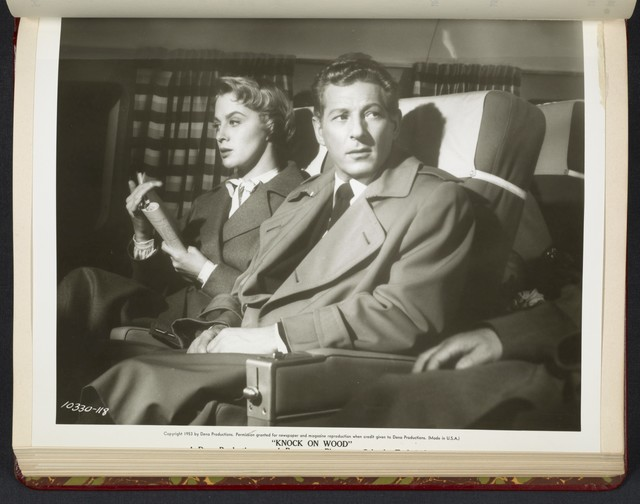 "[ Mai Zetterling and Danny Kaye on plane - scene from ""Knock on Wood""]"