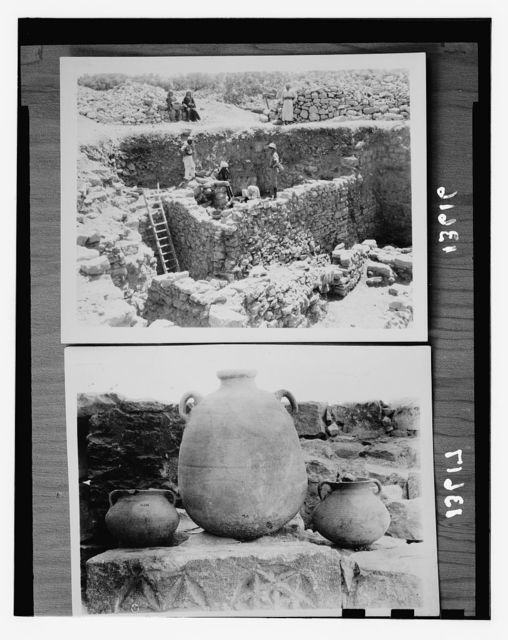 Bethel excavations in 1954 by Dr. James L. Kelso. Lowest house walls are from the time of the Judges