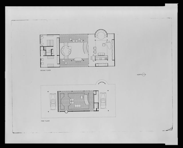 [Cohen residence, Siesta Key, Florida. First and second floor plan]