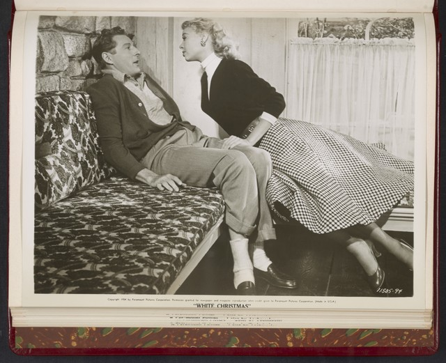 "[ Danny Kaye and Rosemary Clooney, on couch - scene from ""White Christmas""]"